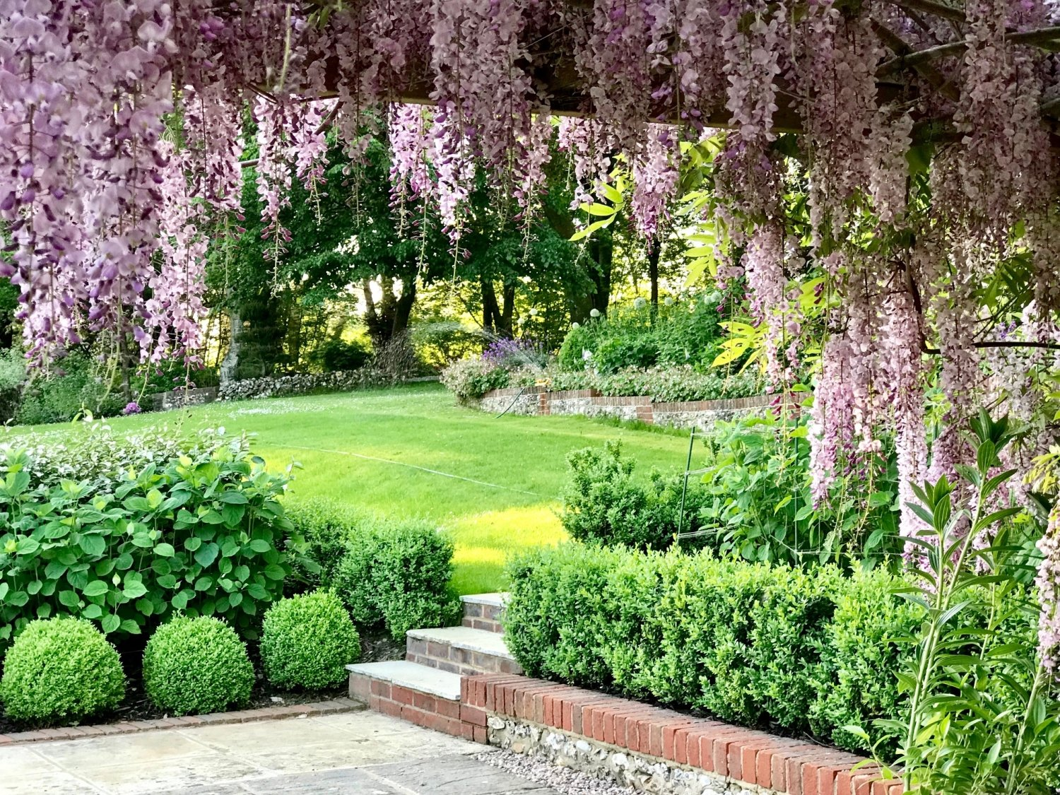 Romantic garden at Sages, Hampshire