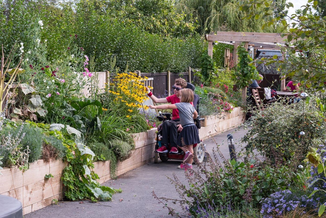 Wheelchair accessible garden at the Courtyard, Kent