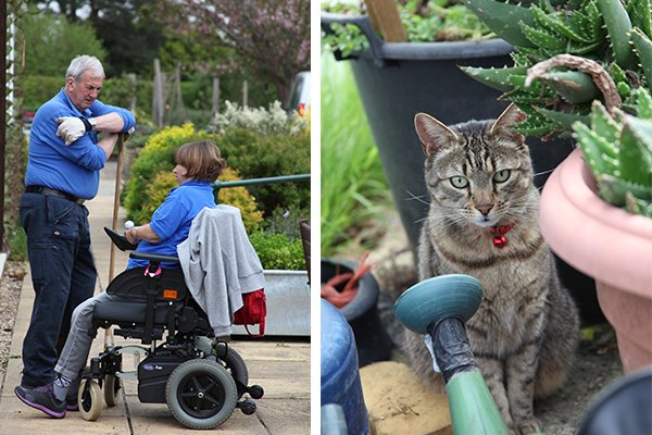 Volunteers at the therapy garden surrey
