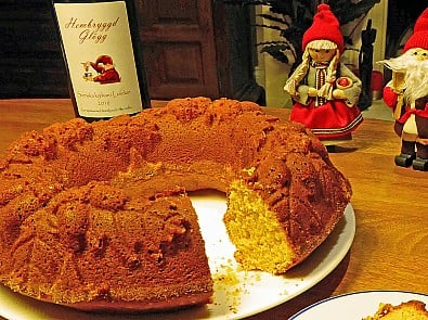 Hospice UK's saffron and orange cake