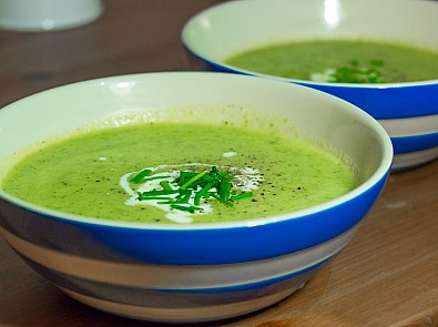 Hospice UK's courgette soup